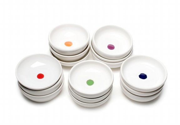 Dots Mini Bowls by Melanie Mena, photo by Tanya King